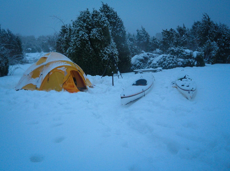 Snöigt på Östra Bokö i Blekinge