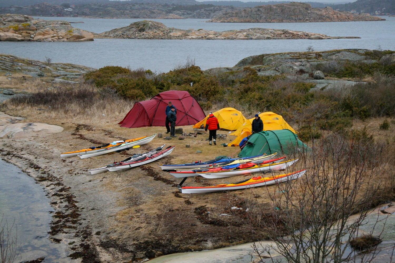 Tältby på Musön. Varierande tältstorlek :)