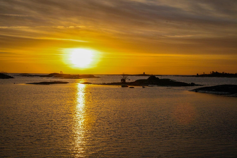 Soluppgång på Örö. Riktigt gött att se horsionten i öster