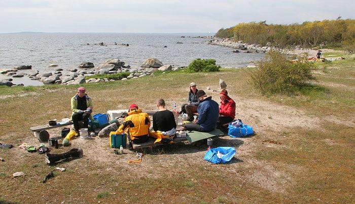 Lunch på Tärnö, med världshistoriens första möte i skumgodisakademin