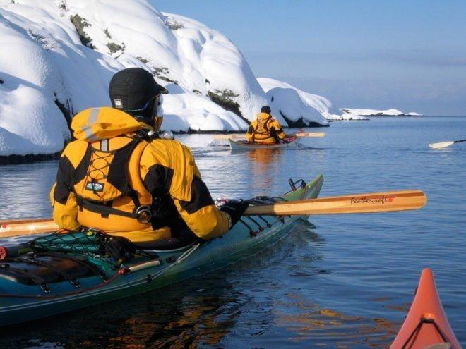 Snö, sol och paddling, vinter när det är som bäst. Utanför Orust