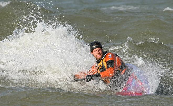 Johan får till en fin surf