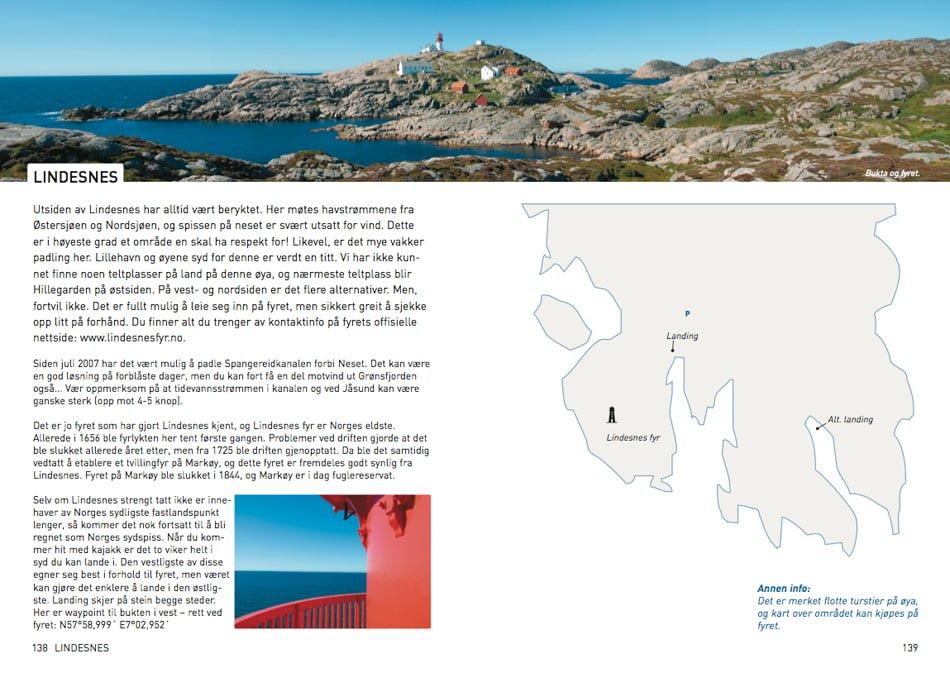Lindesnes - Uppslag ur norsk Padleguide