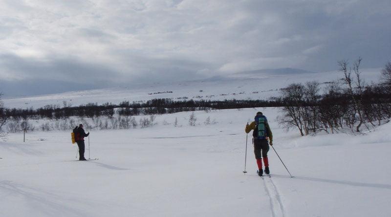 Skidor i fjällen