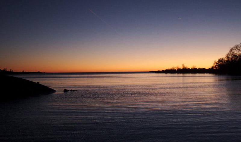Solnedgång från Slädö
