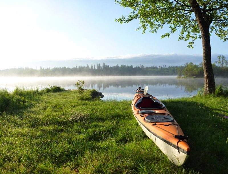 Fin morgon vid Almesåkrasjön