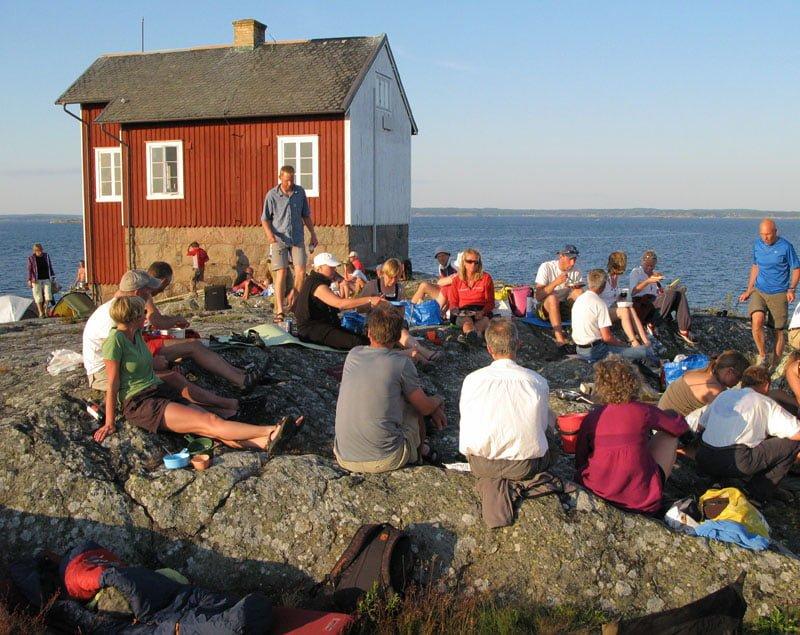 Ljum lördagskväll på Valö med god mat och dryck