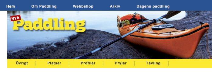 tidningen Paddlings webbsajt
