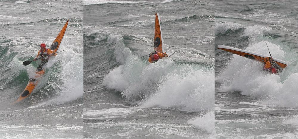 Johan leker i vågorna
