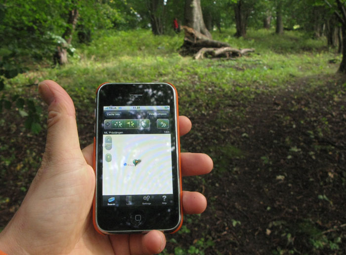Geocaching med iPhone