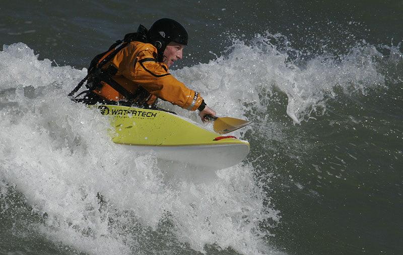Vissa var jäkligt duktiga på att surfa, imponerande att se.