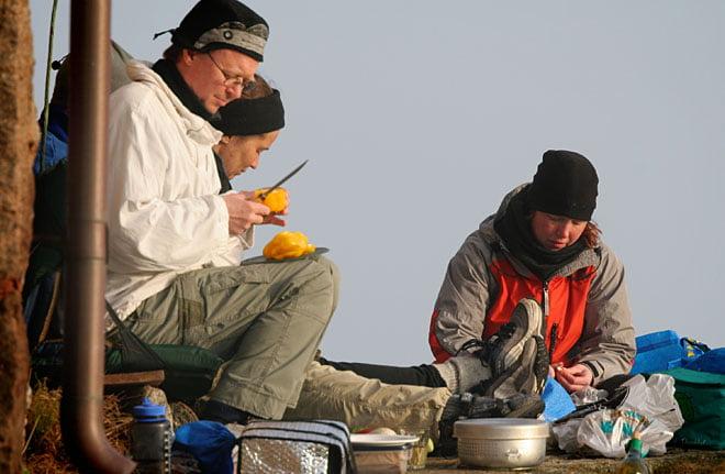 Matlagning vid fyrväggen