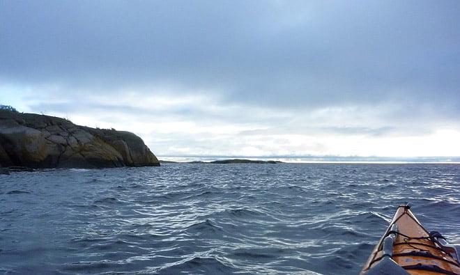 Förmiddag strax öster om Örö