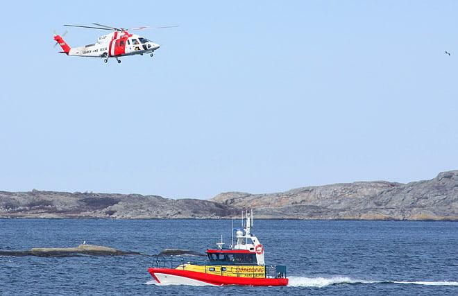 Sjöräddningen hade träning mellan Vrångö och Valö