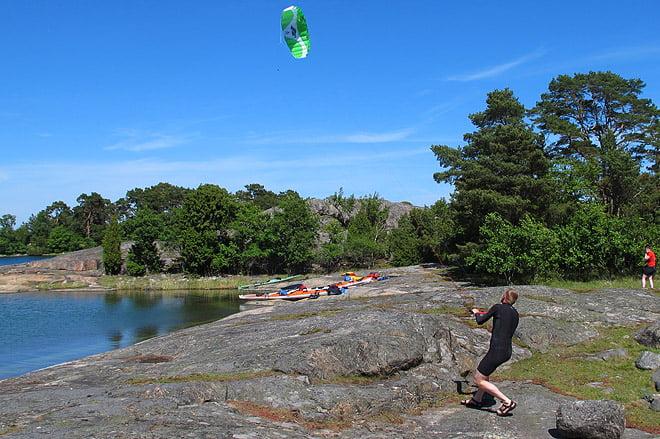 Johan flyger Kite
