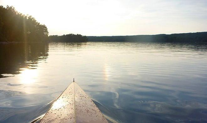 Plattvatten och sol