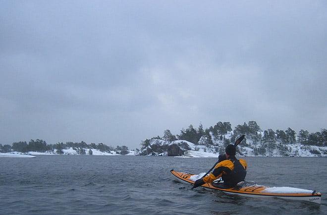 Erik på väg mot Örö