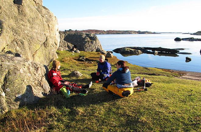 Fika/lunch i solen på Långholmen