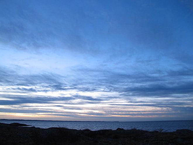 Morgon på Valö - vy söderut