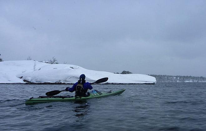 Pia på väg mot Örö