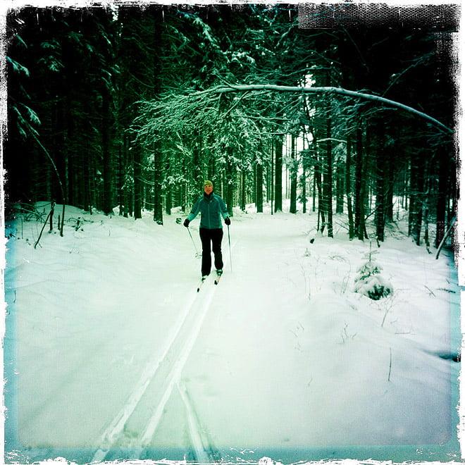 Skidor hemomkring
