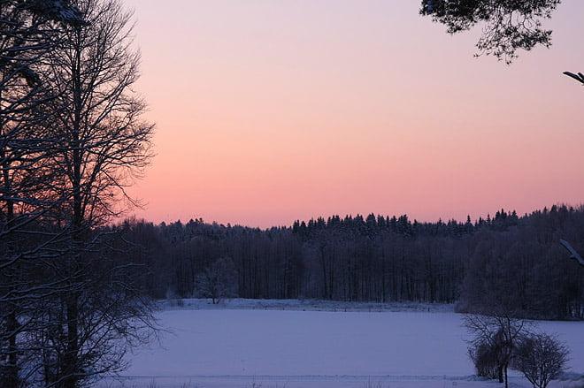 Fin morgonhimmel