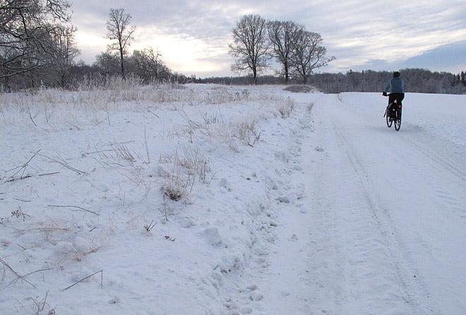 Vintercykling till affären