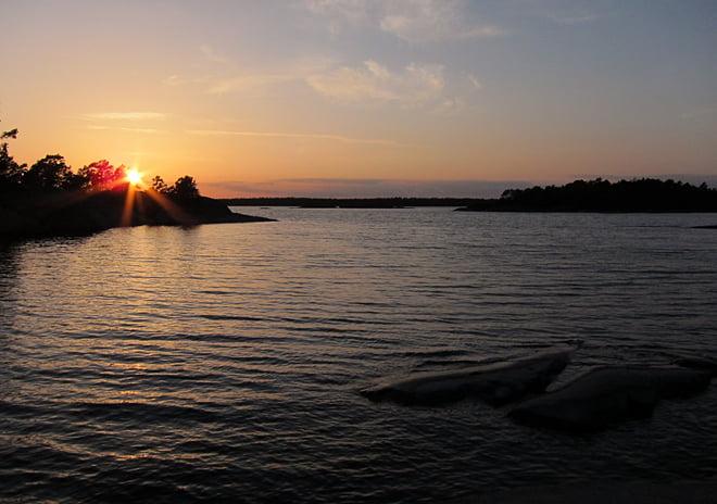 Solnedgång på Lilla brändö