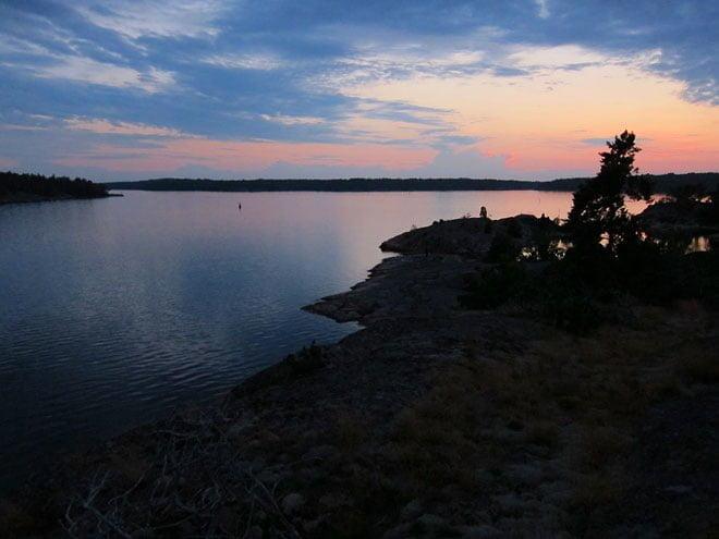 Solnedgång på Tunnholmen