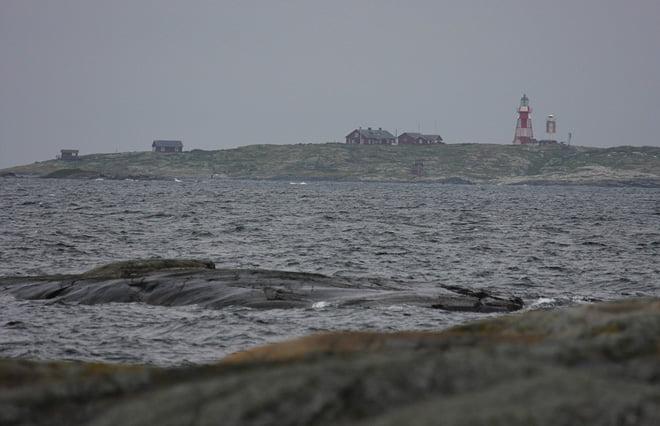 Måseskär fyrplats sedd från Hermanö