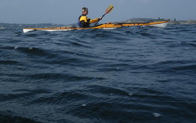 paddling tillbaka norrut