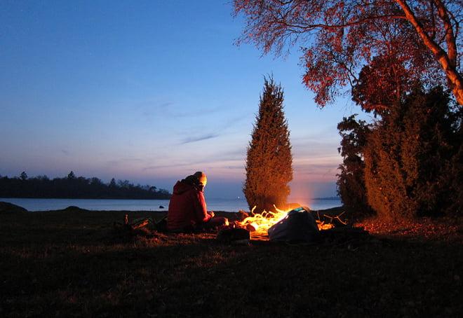 matlagning och mys vid elden