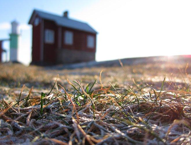 Klar och frostig morgon