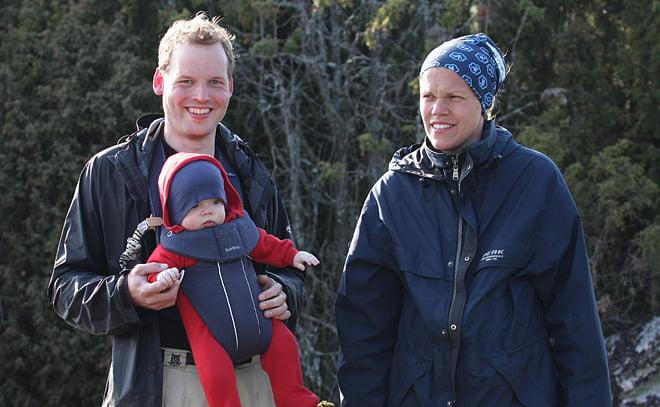 Karl-Johan, Kerstin och deras lille son Kasper, som var den yngste deltagaren ;)