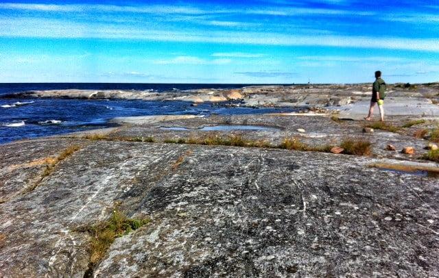 Fina klippor och fin horisontvy på Håkanskär