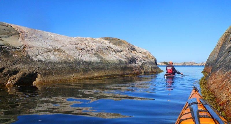 Bland småöarna utanför Långeskär
