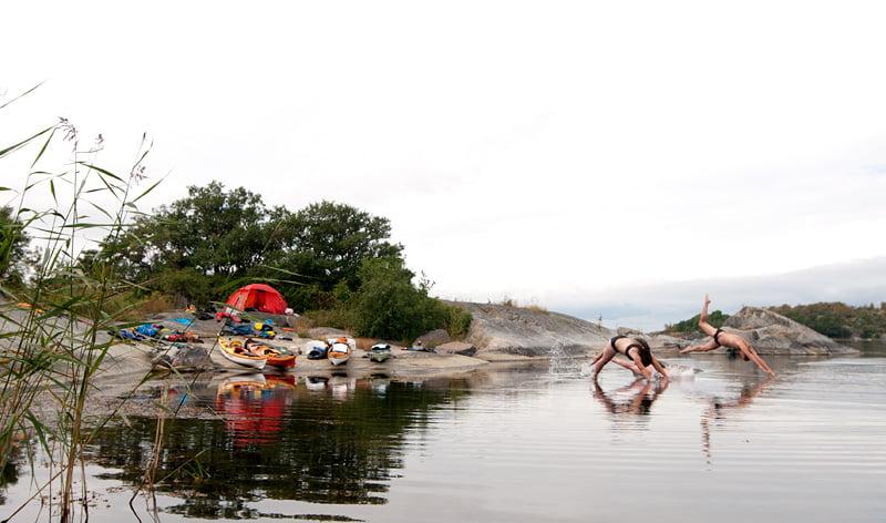 Bada måste vi ju göra. Foto: Lars Jäderström