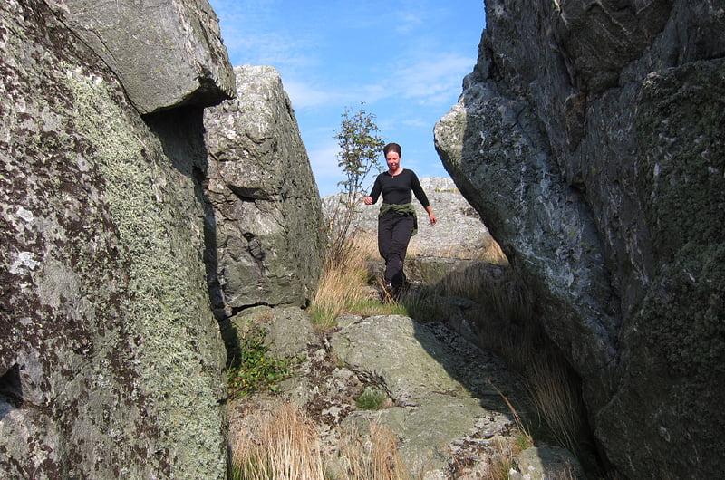 Ödräll, fina klippor på Valös västsida också