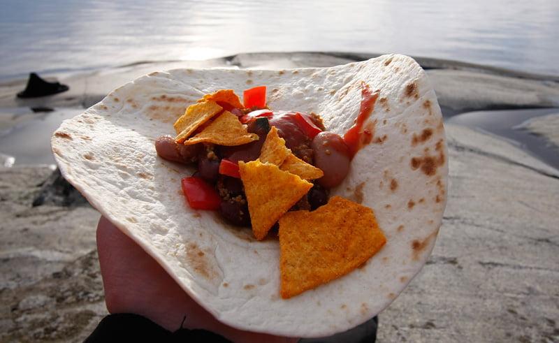 Kvällsmat, Taco. Gött :)