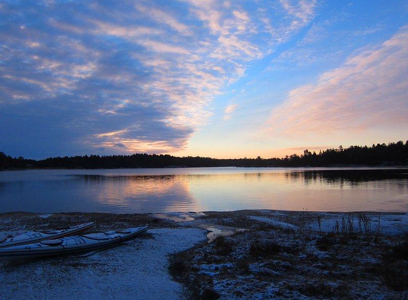 Förstadecembermorgon på Lilla Bergö