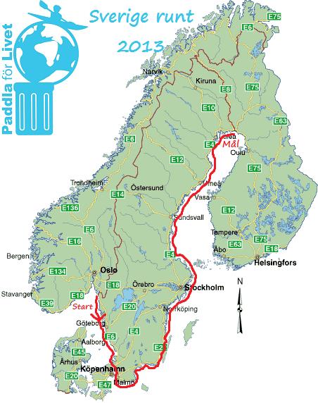 Paddla för livet - från Svinesund till Haparanda