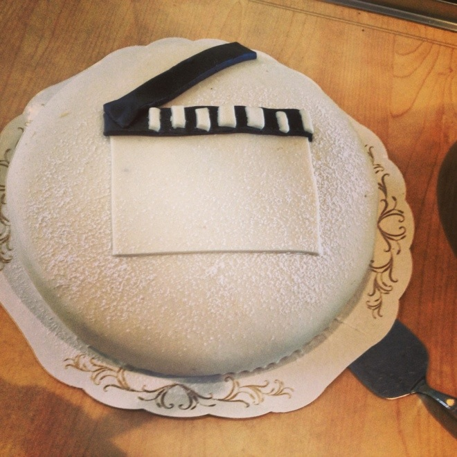 Filmtårta som avslutning