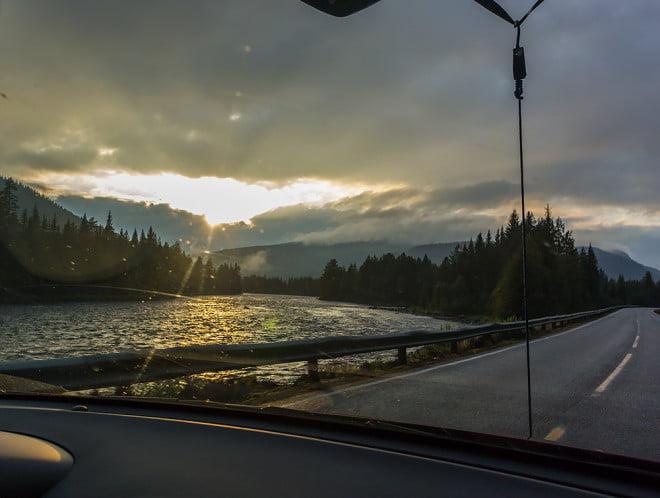 Finvyerna tar över lite längre norrut