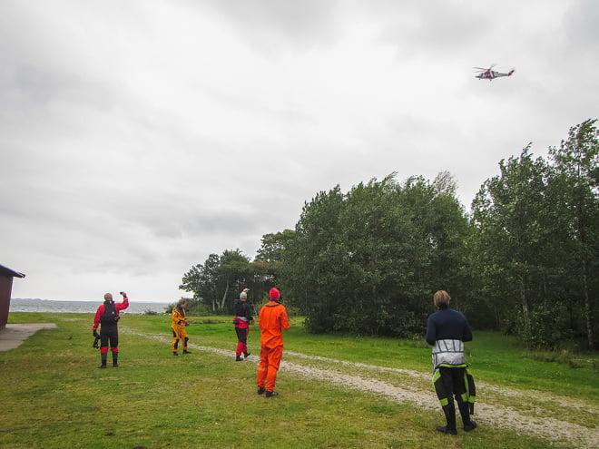 Helikopter på ingång
