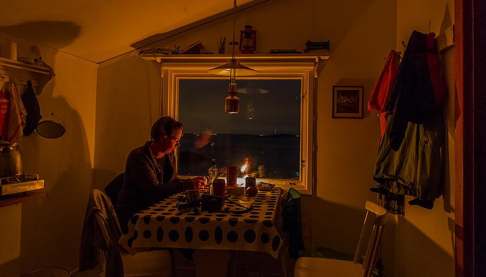 Kvällshäng i Sjöboden på Valö
