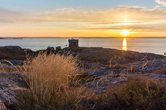 Soluppgång på Valö efter arbetshelg