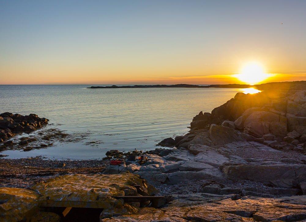 Solnedgång på Hallands Väderö