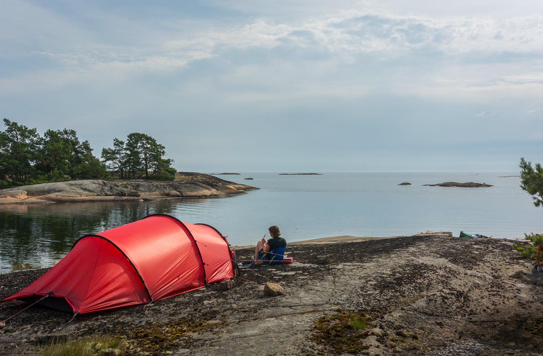 Morgon på Långeholmen