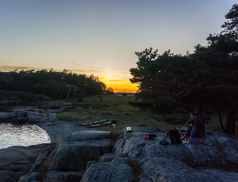 Solnegång på Amundholmen