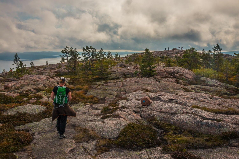 Slåttdalsberget bjöd på utsikt över bland annat Mjältön och Ulvön